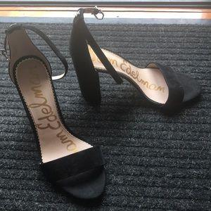 Black Sam Edelman velvet heels size 10